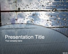 Free window and rain PowerPoint template