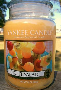 Yankee Candle ** Fruit Salad ** Large Jar : Fruit : Light Orange