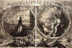 """Christmas Eve 1862."" Harper's Weekly, January 3, 1863. Missouri History Museum."
