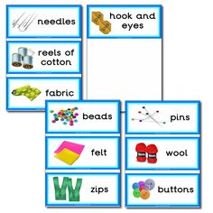 Equipment Resources - Sewing Flashcards