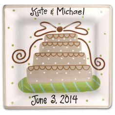 Wedding Cake Square Platter