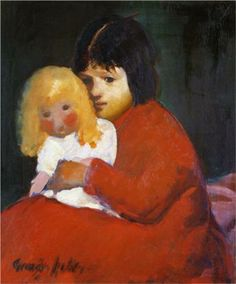 Girl with Doll - George Luks