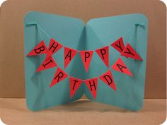 Happy Birthday Banner Card! - The Crafts Dept.