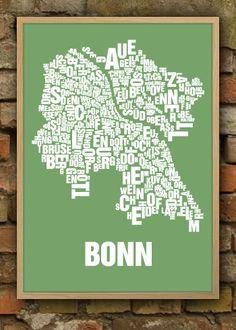 Poster Bonn Buchstabenorte