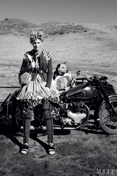 #dogs #motorbike #bw
