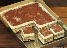 Ciasto cappuccino w 20 minut - Obżarciuch Romanian Desserts, Italian Desserts, Banoffee Pie, Tiramisu Cake, Chocolate Chip Recipes, Mint Chocolate Chips, No Cook Desserts, Summer Desserts, Pumpkin Dessert