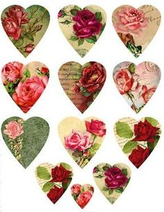 Hearts to use in Pink a/o green Bathrooms-My preference!!