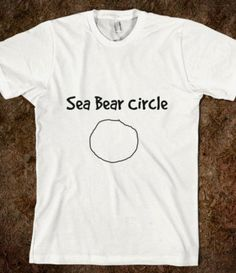 Sea Bear Circle-Unisex White T-Shirt