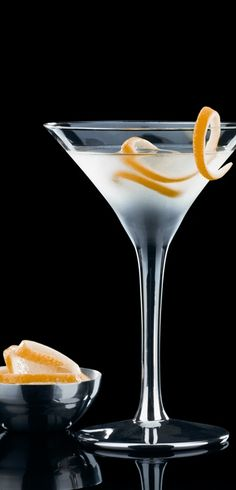 """""""Vesper Martini: 3 measures of Gordon's Dry Gin, One measure of Vodka, ½ measure of Kina Lillet; Shake it over ice and then add a thin slice of lemon peel """" Vodka Tonic, Bloody Mary, Perfect Martini, Dry Gin, Healthy People 2020 Goals, Nutrition Program, Healthy Snacks For Kids, Mixed Drinks, Healthy Living"""