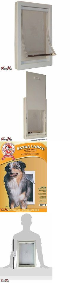 Doors and Flaps 116379: Pet Door Extra Large Frame Durable Easy Install Dog Doggie Flap Mount Secure Xl BUY IT NOW ONLY: $50.11