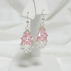 Handmade Swarovski Beaded earrings Beaded by LS4Swarovski on Etsy