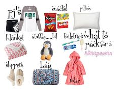 what to bring to a sleepover quot;what to pack for - sleepover Fun Sleepover Games, Teen Sleepover, Things To Do At A Sleepover, Sleepover Party, Slumber Parties, Fun Things, Sleepover Crafts, Sleepover Outfit, Travel Bag Essentials