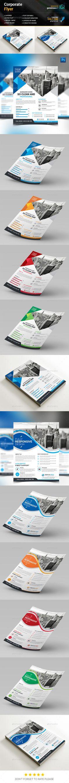 Corporate Flyer Template PSD #design Download: http://graphicriver.net/item/corporate-flyer/13110273?ref=ksioks