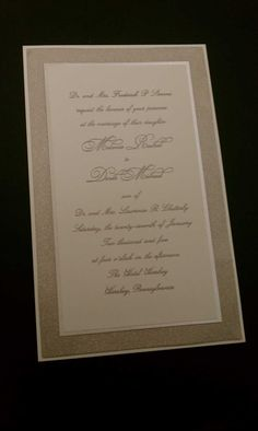 Wedding invitation by c'est papier