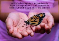 'As God's chosen people, holy and dearly...' - Illustrated Bible Verse about Kindness (Colossians 3:12)