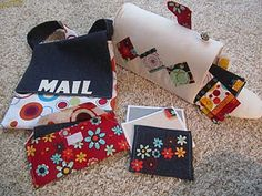 Love this fabric mail carrier set from Twelve Crafts Till Christmas blog! My kids would get into this!!