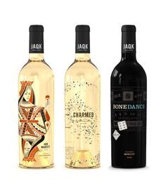 """As a Cinema Sommelier I would pair them with The Classic poker film """"The Cincinnati Kid"""" starring Steve McQueen. Designed and bottled by JAQK Wine Cellars, really cool people with really great design sense. I adore all of the designs they do from the Bottles and Boxes to the T-Shirts."""