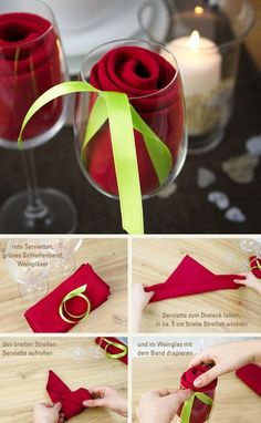Mother's Day & Valentine's Day DIY Ideas. Mother's Day & Valentines Day Ideas. Easy rose decoration for dinner or Valentine's Mother's Day & Valentine's Day DIY Ideas. Mother's Day & Valentines Day Ideas. Easy rose decoration for dinner or Valentine's Valentines Day Decorations, Wedding Decorations, Christmas Decorations, Table Decorations, Saint Valentin Diy, Simple Rose, Easy Rose, Ideias Diy, Valentine's Day Diy