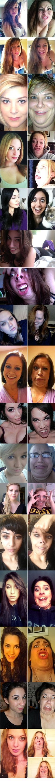 Pretty girls making ugly face | Dont Stop Smiling