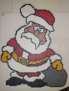 Santa Claus Christmas hama beads (50x 40 cm) by daniella1707