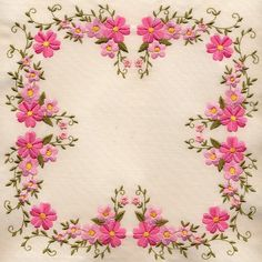 I ❤ embroidery . . . Floral embroidery quilt square