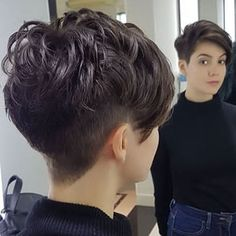 Dark Brown Pixie Hair