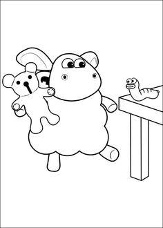 Shaun the sheep Tegninger til Farvelægning. Printbare Farvelægning for børn. Tegninger til udskriv og farve nº 39