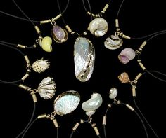 """gold plated shell necklaces -  You get 12 assorted necklaces that retail easily for 4.99 each.  24 carat gold plated    Add to CartSL-100(16"""")$24.00 Dz"""