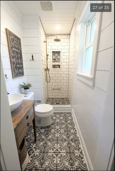 Bathroom decor for your master bathroom renovation. Learn bathroom organization, master bathroom decor ideas, master bathroom tile some ideas, bathroom paint colors, and more. Bathroom Renos, White Bathroom, Bathroom Renovations, Modern Bathroom, Dyi Bathroom, Simple Bathroom, Remodel Bathroom, Bathroom Mirrors, Tub Remodel