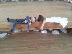 Drunk Bride & Groom Wedding Cake Topper  by TailorMadeToppers, £65.00