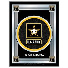 Holland Bar Stool US Armed Forces Logo Mirror Framed Graphic Art Branch: Army