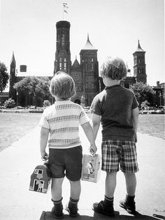 Children Approaching the Smithsonian Building, c. 1970, Smithsonian Institution Archives, Image #97-9589.