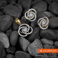 A #gold #diamond #locketset with the richness of #charm and #style for the best in you.