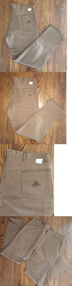 Pants and Shorts 163525: New Bulwark Fr Jeans Men S Flame Resistant Tan Duck Work 42X36 -> BUY IT NOW ONLY: $40 on eBay!