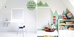 vlak op de muur schilderen