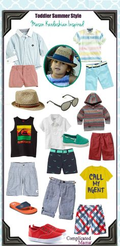 6a62fde7d Summer Style For Boys: Mason Kardashian's Look For Your Dapper Dude Boys  Summer Outfits,