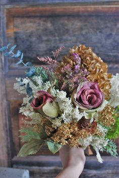 Wild Rustic Dried Flower Bouquet // Bohemain Dried  by dustyLuck