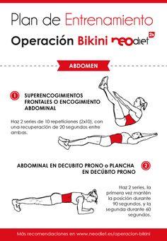 ¡Seguimos con el Plan de Entrenamiento neodiet2h! Para estar perfecta en verano   Hoy te proponemos ejercicios centrados en la zona del abdomen ¡para lucir un cuerpo 10!