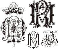 ID 2026203 | Monogram MR | Stock Vector Graphics