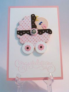 Baby Carriage Punch Art Card - Stampin' Connection
