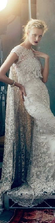Marchesa Bridal 2013 Wow! Detailed... Gorgeous bridal jewelry at: vinesofjewels.com