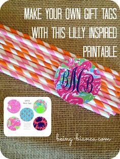 Who loves Lilly Pulitzer??? These FREE PRINTABLE gift tags are Lilly pattern inspired and useful for gift tags and so many more uses. Get your copy now.