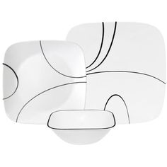 #Kitchen: Corelle Square Simple Lines 18-Piece #Dinnerware Set, Service for 6 - Buy New: $106.24