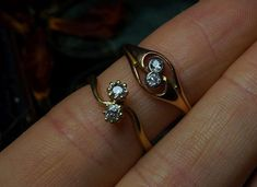 Two Edwardian diamond crossover rings just about to go live on our site...