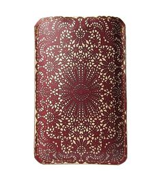 eb9491dcf7f3 Leather iPhone / iTouch /HTC (Desire) Case - Burgundy Lace Iphone 5 Cases