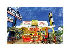 A signed limited edition giclee on paper of 295 by cultural legend, Bob Dylan, entitled Vine Street, West L.A.