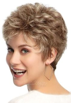 petite flirt by eva gabor wigs - October 12 2019 at Short Wigs, Short Curly Hair, Curly Hair Styles, Natural Hair Styles, Short Pixie, Thin Hair, Pixie Styles, Long Hair, Short Hair Cuts For Women