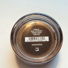 """bareMinerals Sensation Eyecolor Unopened, small size (0.02 Oz) of bareMinerals Sensation Eyecolor. A matte, clay shade of brown. Almost no shimmer, would work perfectly for a more """"natural"""" makeup look. bareMinerals Makeup Eyeshadow"""
