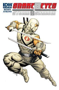 Snake Eyes (and Storm Shadow) cover A Comic Book Characters, Marvel Characters, Comic Character, Comic Books Art, Gi Joe, Comic Art Community, Hero Time, Horror, Storm Shadow