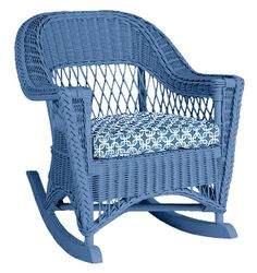 Wicker by Maine Cottage | Molly Rocker #wickerfurniture